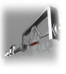bracket in kitchen fire suppression system
