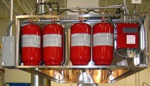 Agent Storage cylinder tank for kitchen fire suppression system