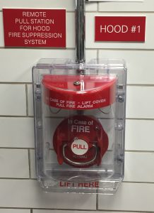 manual pull station ansul brand for kitchen fire suppression system
